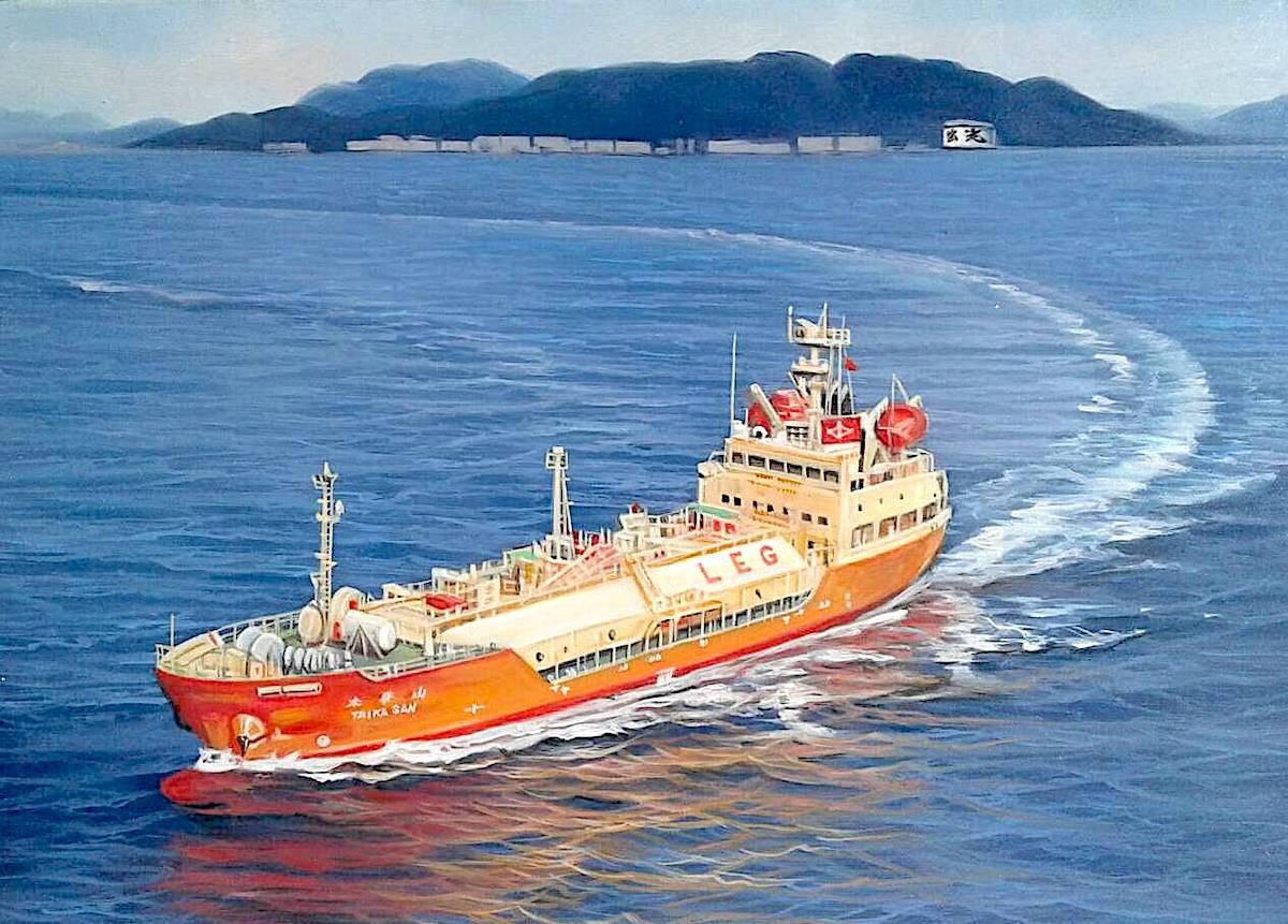 油絵乗り物画(大型船)