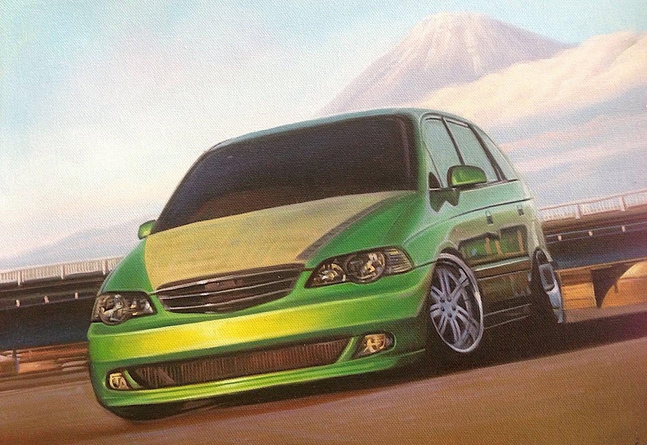 油絵乗り物画(スポーツカー)